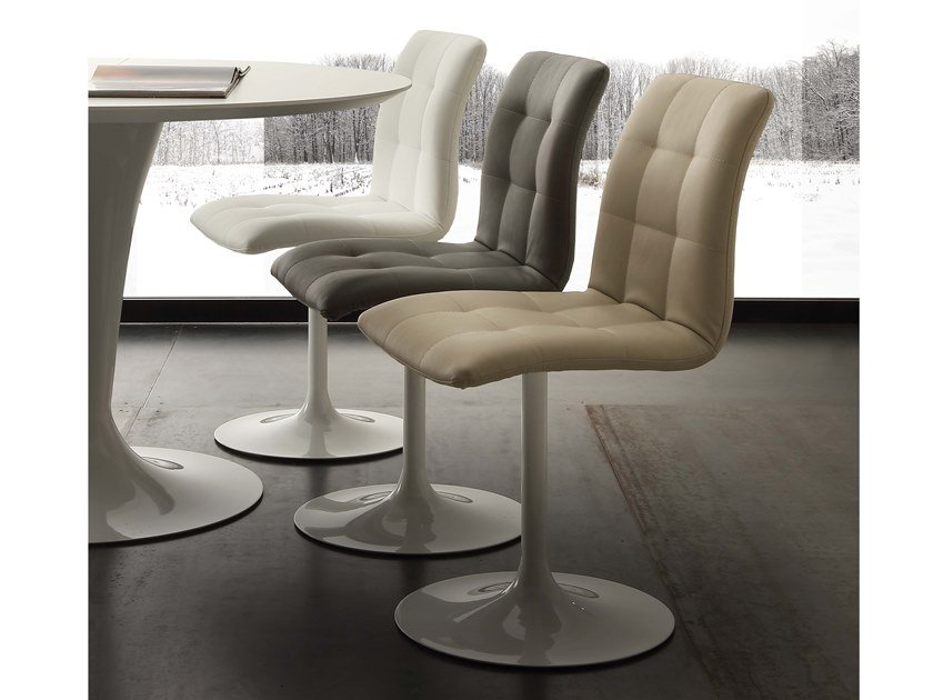 Swivel Eco-leather chair AREA by La seggiola