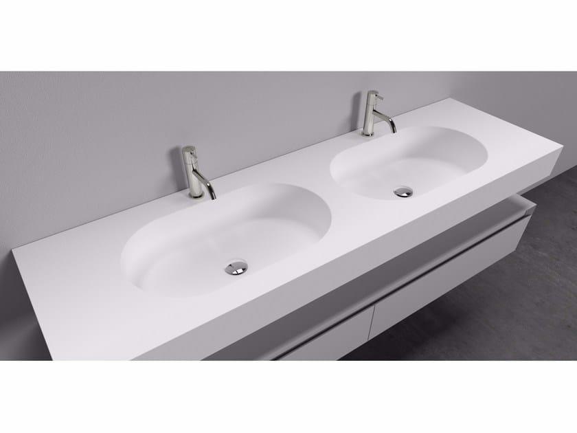 Cristalplant® washbasin countertop ARENA by Antonio Lupi Design
