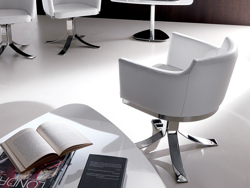 Swivel easy chair with 4-spoke base ARENA by Ozzio Italia