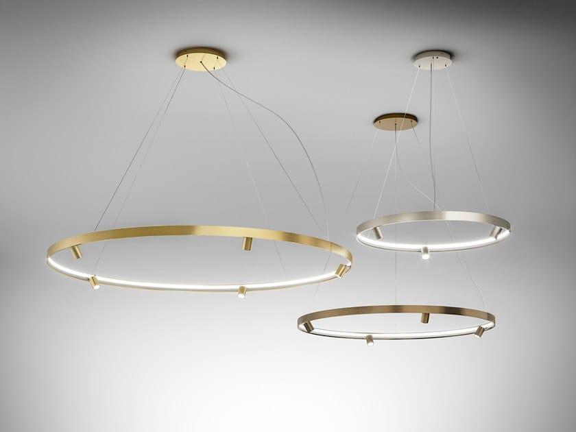 Lampada a sospensione a LED in alluminio estruso ARENA by PANZERI
