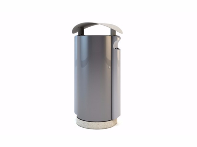 Steel litter bin with lid ARES by Bellitalia