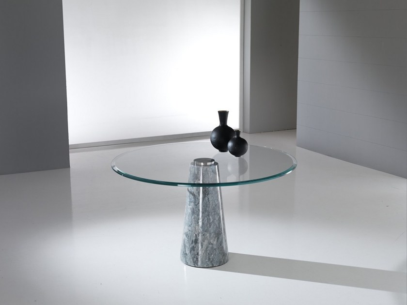 Round Crystal Stone® table ARES by Crystal Stone