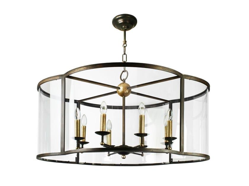 Handmade metal pendant lamp AREZZO CROSS by Abrissi
