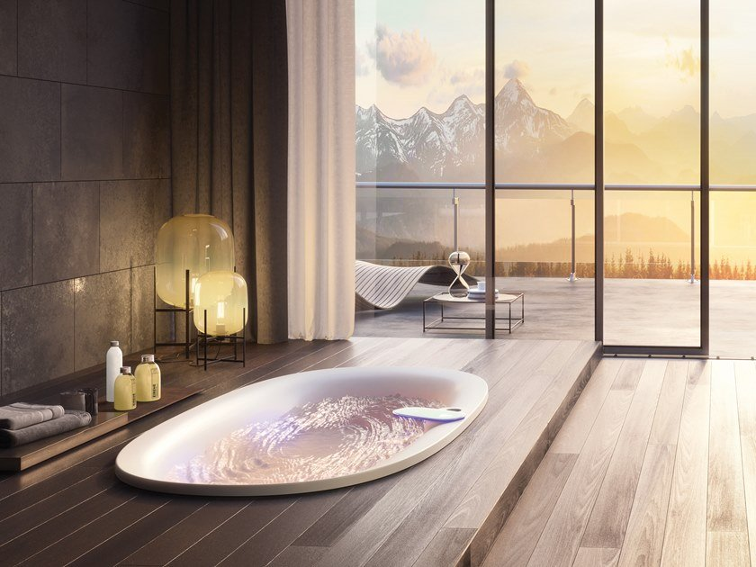 Vasca Da Bagno Ovale Incasso : Vasca da bagno idromassaggio ovale in acrilico arga vasca da