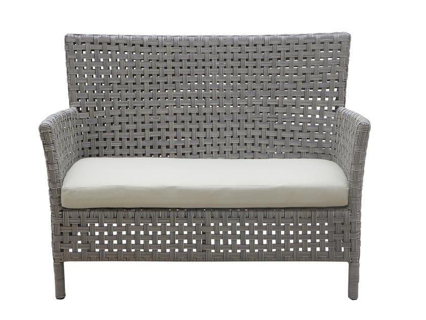 Divano da giardino a posti in fibra sintetica argali divano da