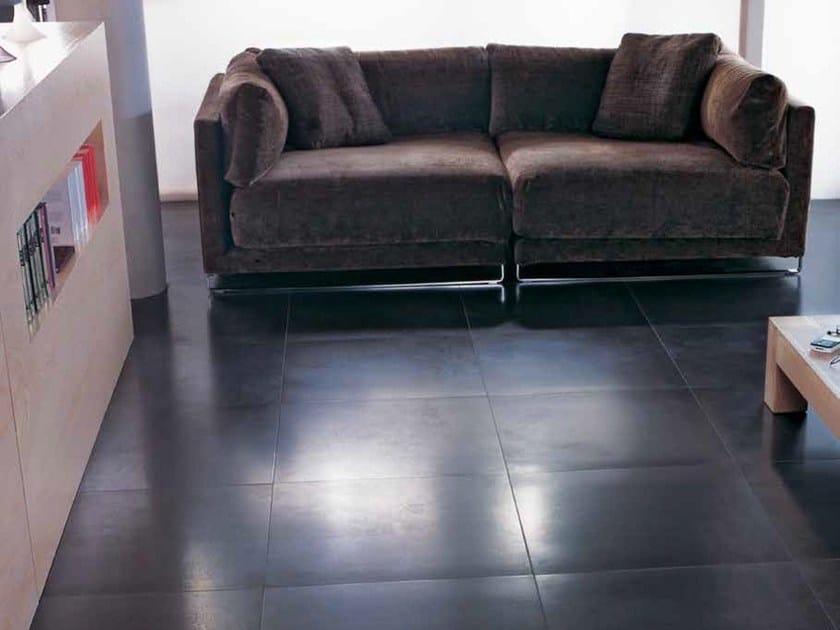 Indoor/outdoor porcelain stoneware flooring ARGENTA by Venis
