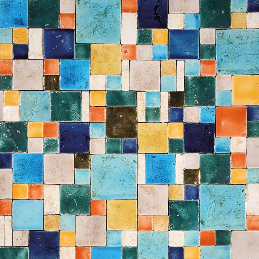 Terracotta mosaic ARGENTARIO by Palazzo Morelli
