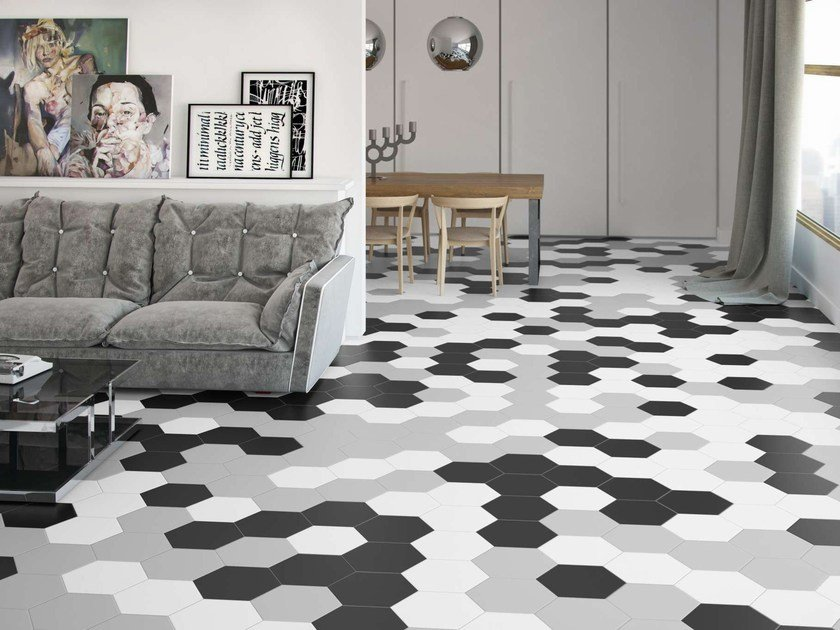 Ceramic wall tiles / flooring ARGILA ORIGAMI by Harmony