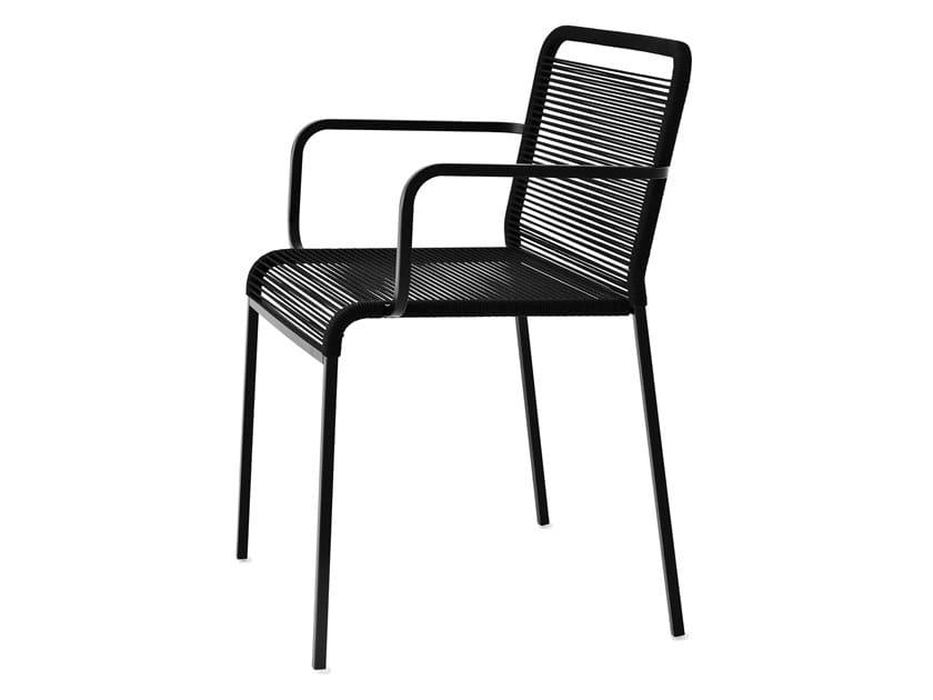 Sedia da giardino impilabile con braccioli ARIA | Sedia con ...