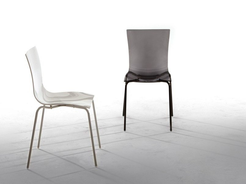 Stackable plastic chair ARIA EASY by Tonin Casa