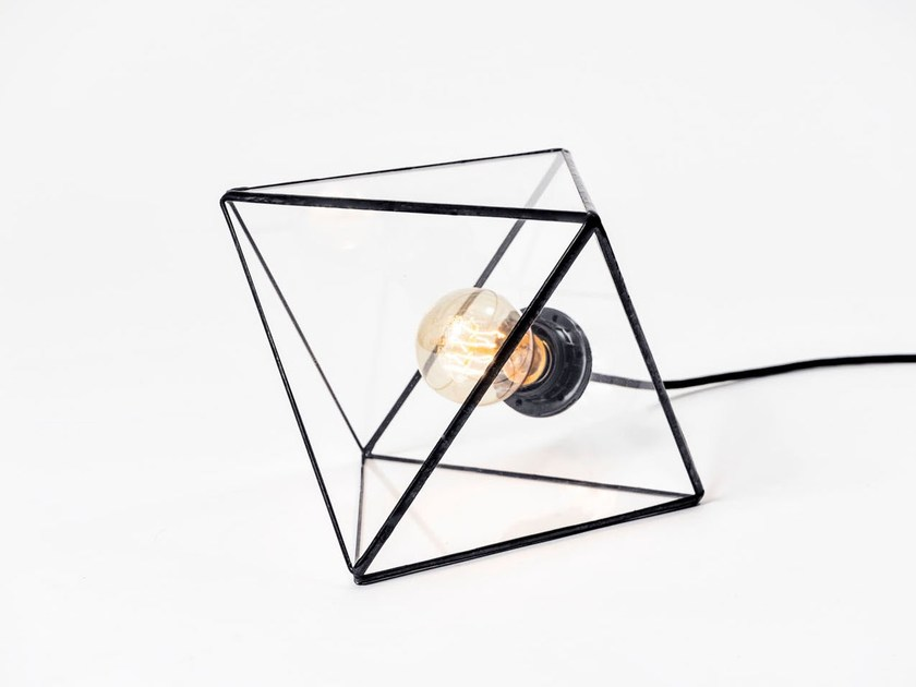 Glass table lamp aria glass table lamp by bigdesign