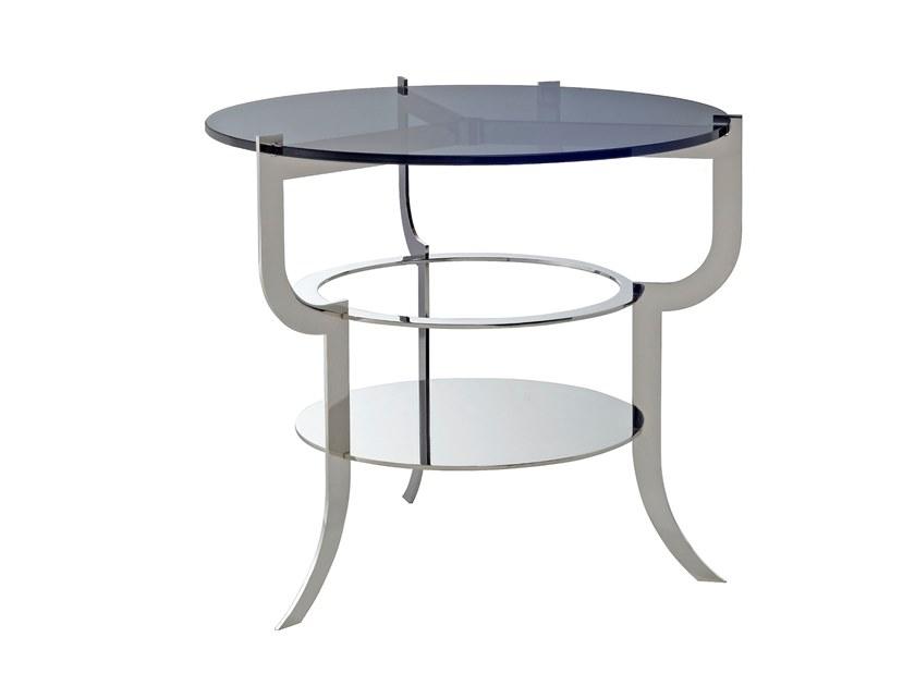 Round glass side table ARIA | Side table by Douglas Design Studio