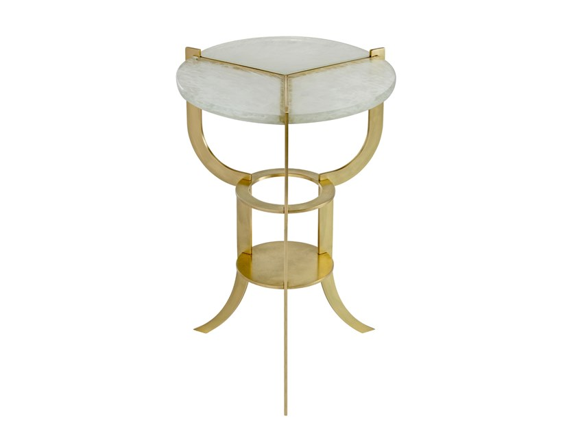Round glass side table ARIA TRIFURCATED | Side table by Douglas Design Studio