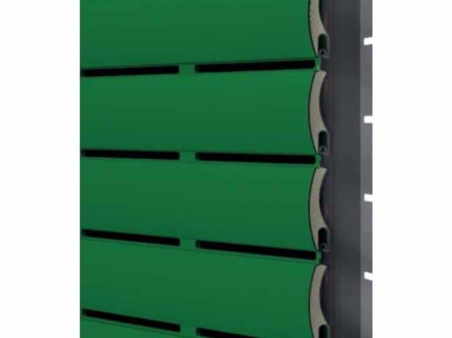 Insulated aluminium roller shutter ARIALUCE by Teknika