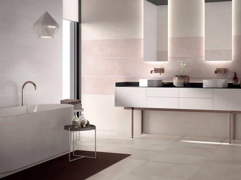 CREA Bisquit Quartz Matita alluminio White coordinato a Legend Pure matt e Concrea Bone Lux