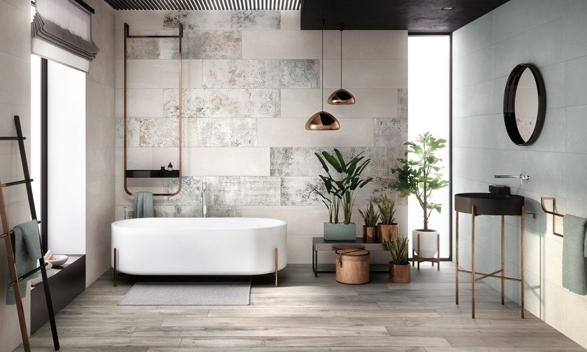 wall porcelain wall tiles crea by ariana ceramica. Black Bedroom Furniture Sets. Home Design Ideas