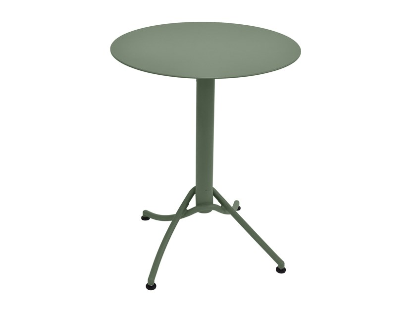 Round metal high side table ARIANE   High side table by FERMOB