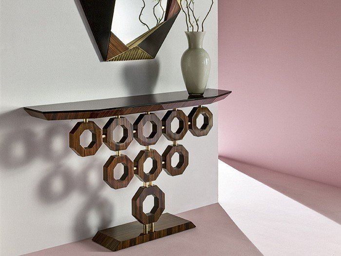 Rosewood console table ALISEI by Rozzoni