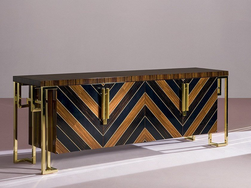 Solid wood sideboard with doors SCIROCCO by Rozzoni