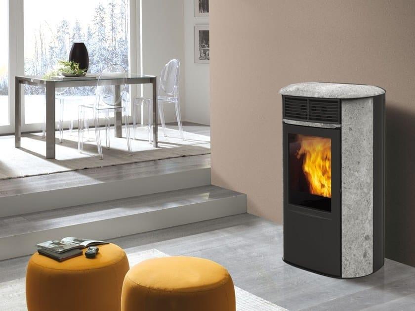 Pellet Soapstone stove ARIS UP | Soapstone stove by EDILKAMIN