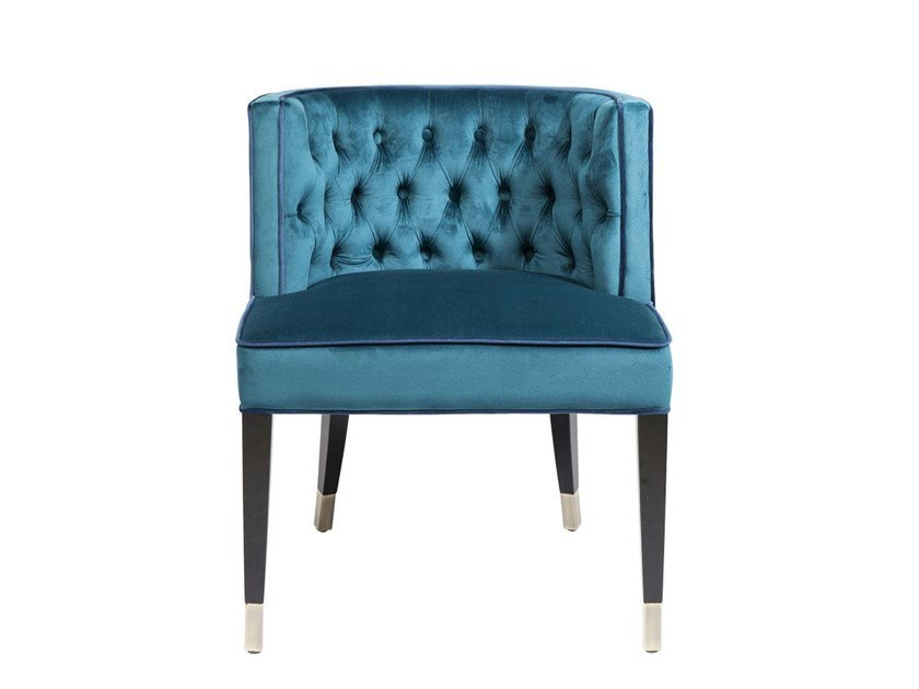 Tufted fabric chair ARISTO | Chair by KARE-DESIGN
