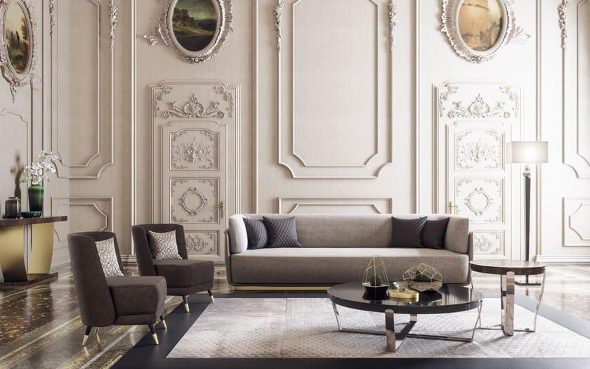 Capital E Legno Rotondo Xl Acciaio Tavolino In Aristo Basso Collection f7Y6gvby