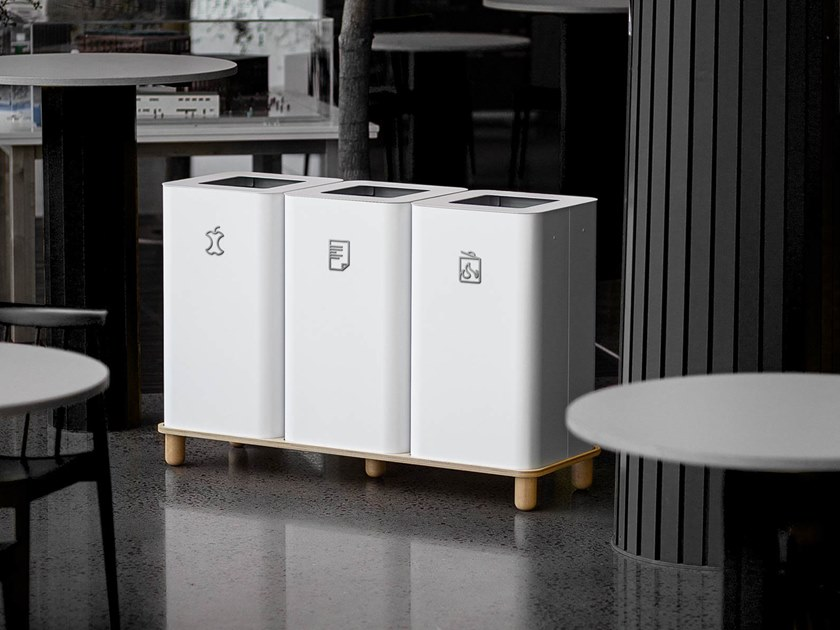 Litter bin for waste sorting ARKAD / ARKIV by Mizetto