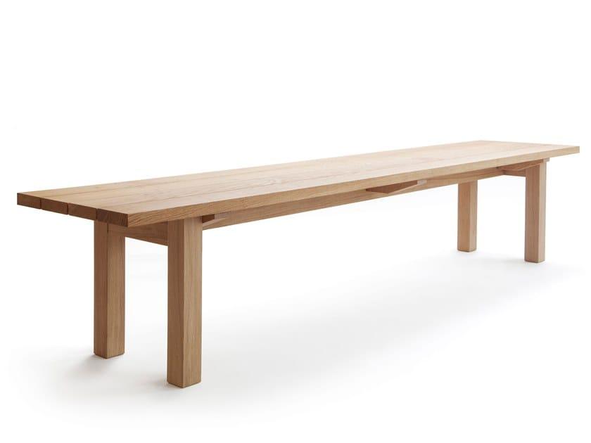 Oak garden bench ARKIPELAGO KVI10/KVI10T by Nikari