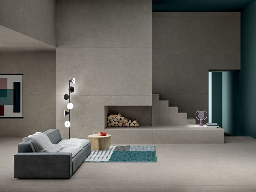 Porcelain stoneware wall/floor tiles with stone effect ARKISTONE GREIGE by Marca Corona