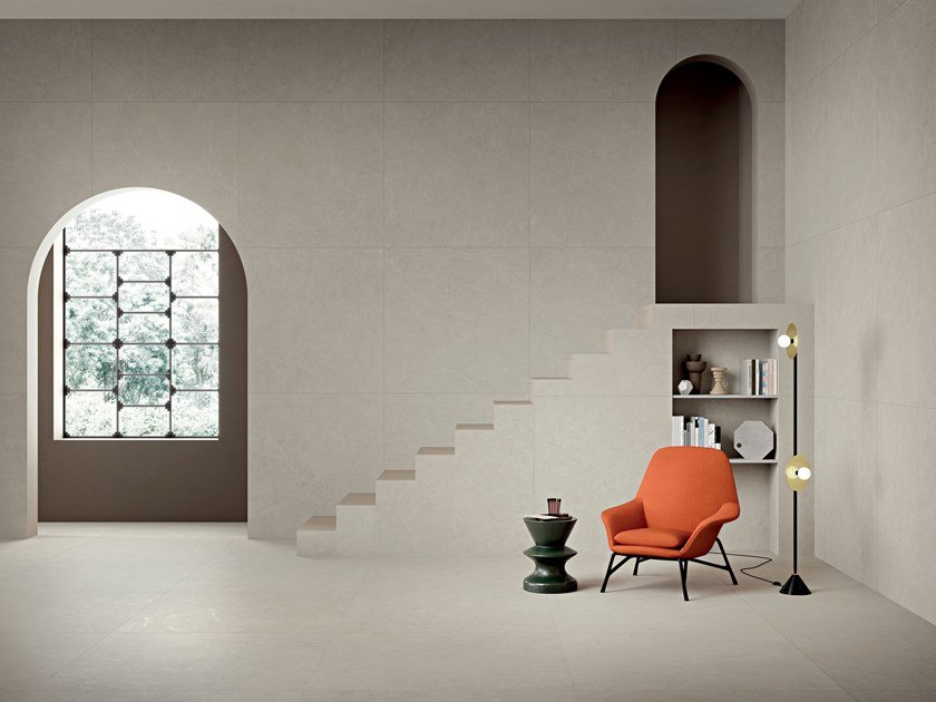 Porcelain stoneware wall/floor tiles with stone effect ARKISTONE LIGHT by Marca Corona