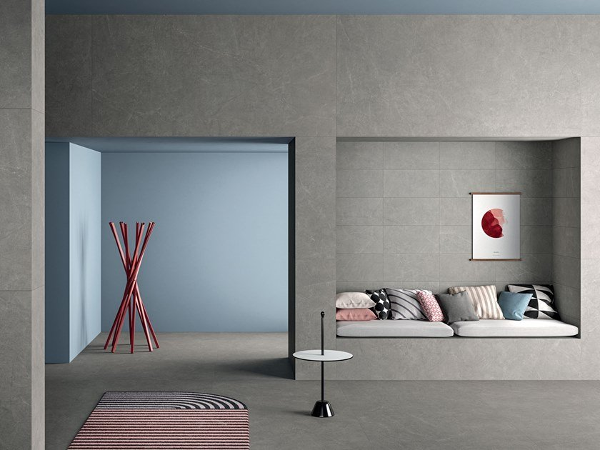 Porcelain stoneware wall/floor tiles with stone effect ARKISTONE SILVER by Marca Corona