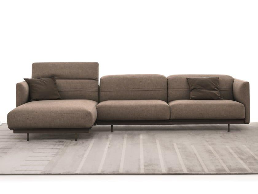 Sectional fabric sofa ARLOTT HIGH | Sectional sofa by Ditre Italia