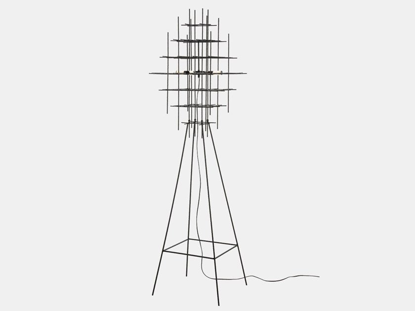 LED iron floor lamp ARMADA 283.04.NN by Il Fanale