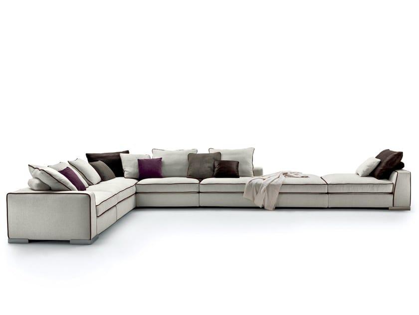 Sofá 3 plazas de tela con funda extraíble ARMAND by Mood by Flexform