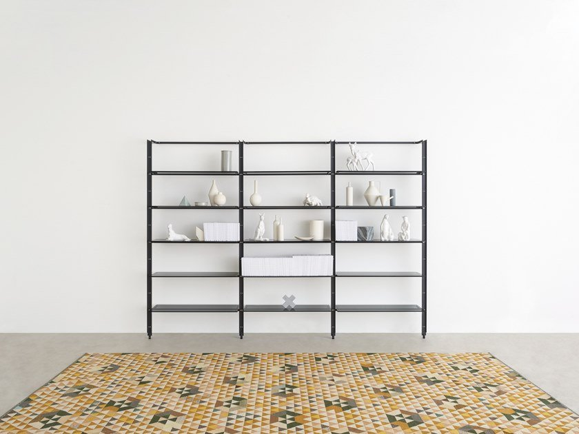 Floor-ceiling mounted bookcase ARMIDA by Desalto