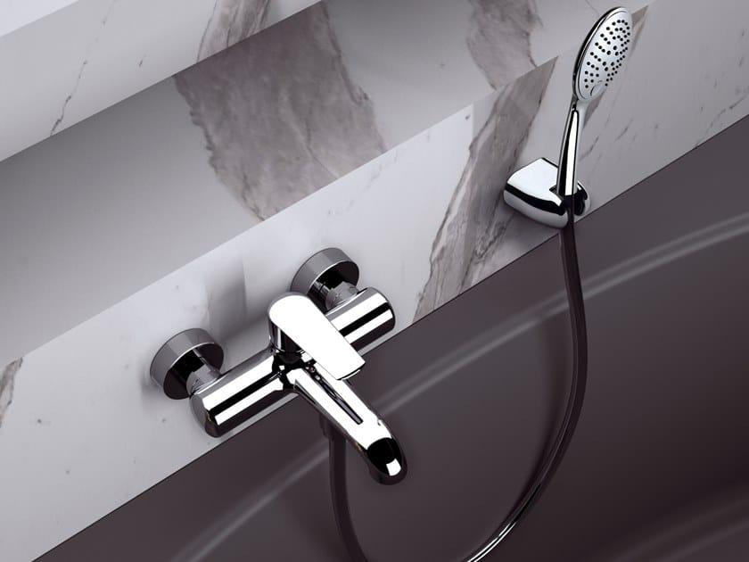 Wall-mounted single handle brass bathtub set ARMONIA | Bathtub set by Rubinetterie Mariani