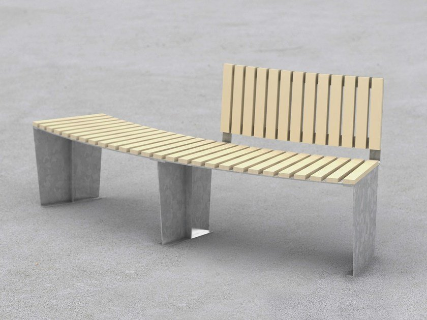Curved steel Bench ARMONIA | Curved Bench by LAB23