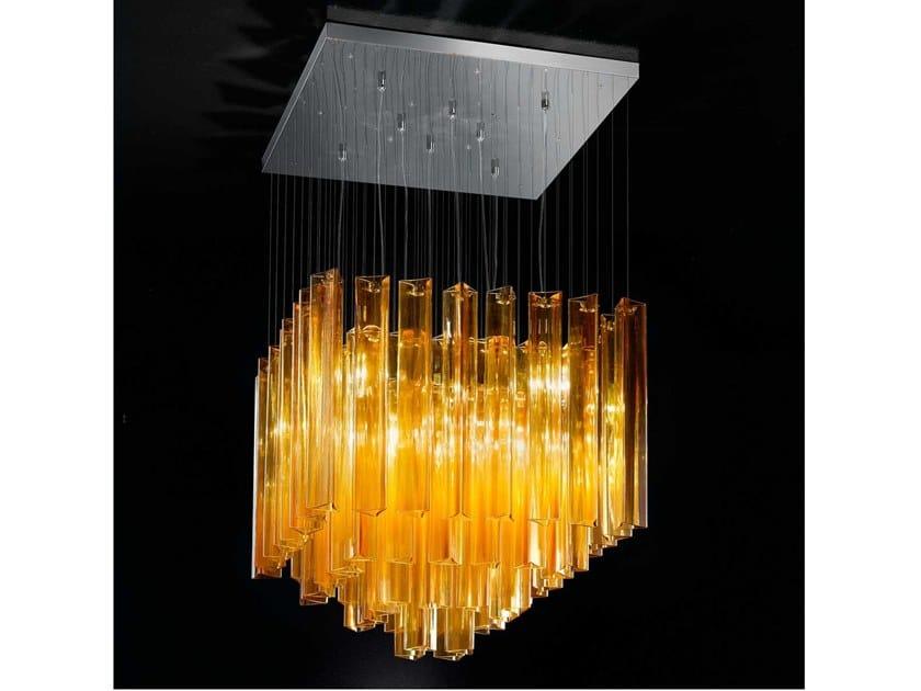 Lampada a sospensione in vetro armonia lampada a
