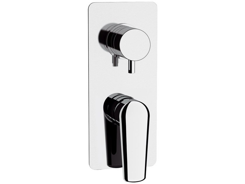 Recessed single handle brass shower mixer ARMONIA | Recessed shower mixer by Rubinetterie Mariani