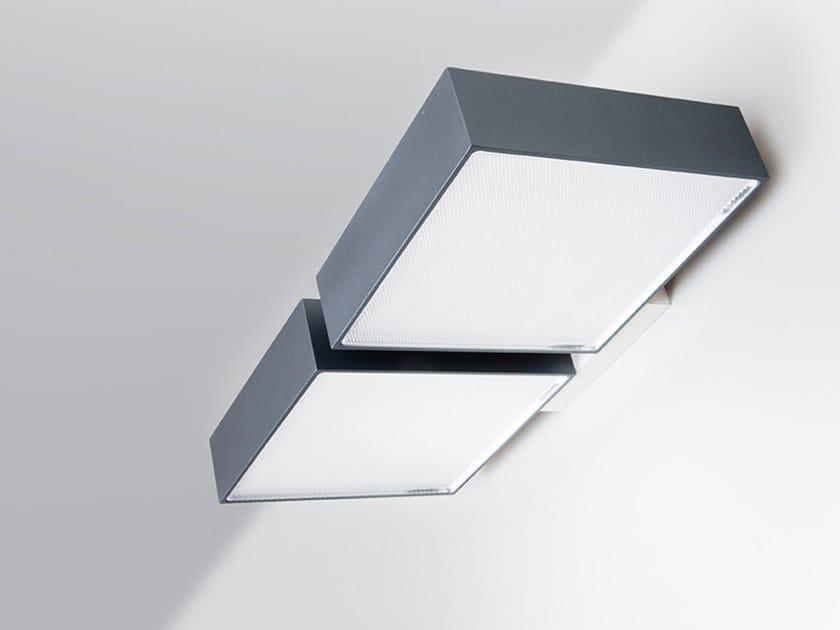 LED aluminium wall light ARMONIA TWIN by ENGI