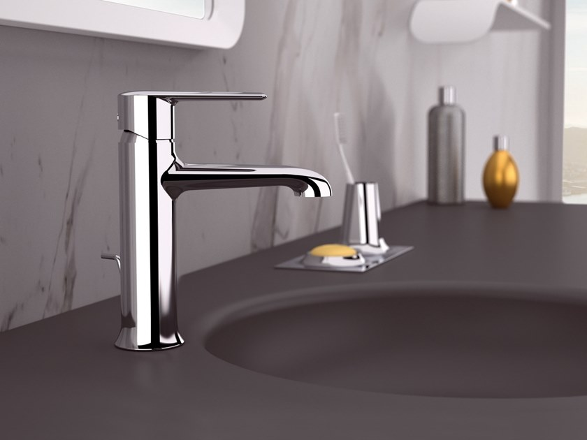 Countertop single handle brass washbasin mixer ARMONIA | Washbasin mixer by Rubinetterie Mariani
