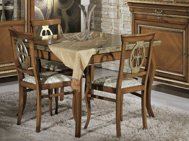 Extending solid wood table ARMONIE | Square table by Arvestyle