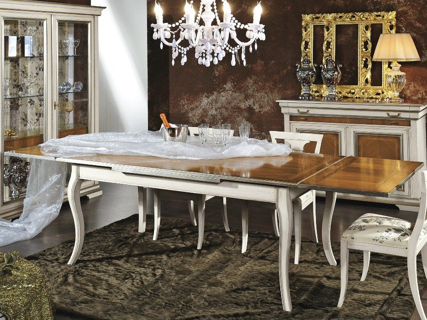 Extending solid wood table ARMONIE | Rectangular table by Arvestyle