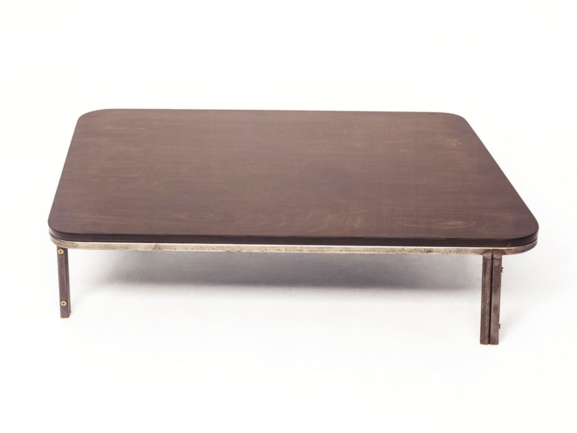 Merveilleux Low Wooden Coffee Table AROUND THE CORNER COFFEE TABLE By Rue Intérieure