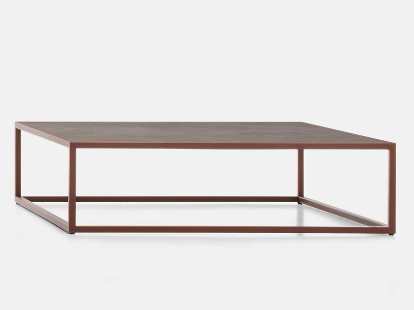 Low square ceramic coffee table ARPA   Low coffee table by MDF Italia