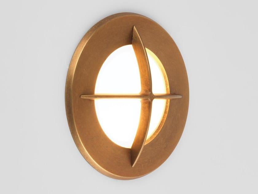Segnapasso a LED a parete in ottone per esterni ARRAN ROUND by Astro Lighting