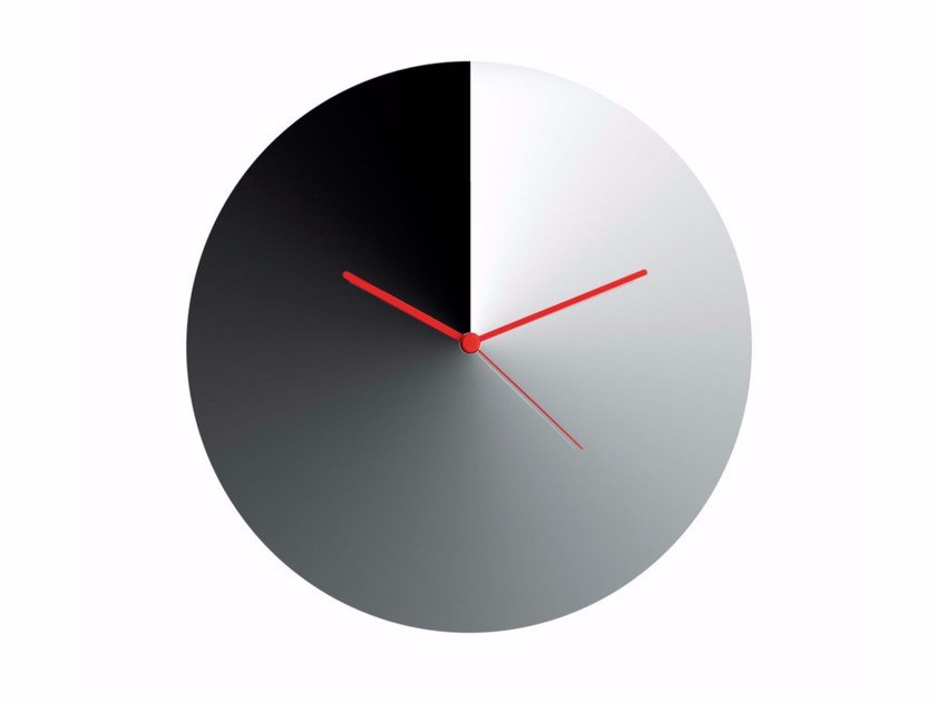 Orologio in acciaio da parete ARRIS By Alessi design Adam ...