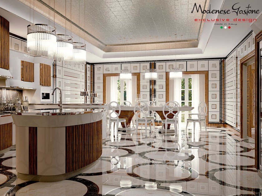 Arrogance zebrano kitchen by modenese gastone for Meuble zebrano