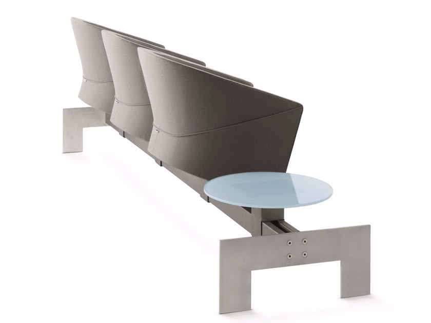 Beam seating with armrests with writing tablet ARROW   Beam seating by Luxy