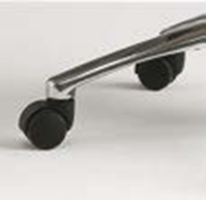 ARTU Sedia a sbalzo - Particolare basamenti in alluminio lucidato